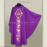 OG-HM-IHS-7 PURPLE GOTHIC CHASUBLE