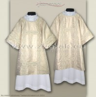 DS-BRO-GH WHITE GOLD/WHITE SEMIGOTHIC DALMATIC