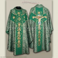 OG-HM-P-2a BRO GOTHIC CHASUBLE