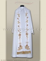 SR-HR-5 WHITE ROMAN STOLE - Wedding Stole