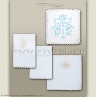 C27 LIGHT BLUE - MARIAN CHALICE LINEN SET