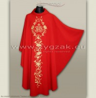OG-HM-IHS-7 RED GOTHIC CHASUBLE