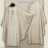 "OG-HM-P-4 BRO - ""Jesus I Trust in You"" GOTHIC CHASUBLE"