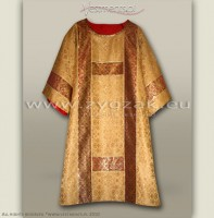 DS-BRO-GT DARK GOLD SEMI-GOTHIC DALMATIC