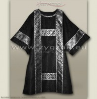 DS-ROZ-GT BLACK/SILVER SEMI-GOTHIC DALMATIC