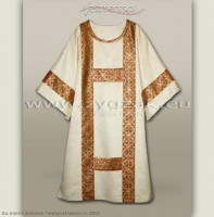 DS-ROZ-GT WHITE/RED SEMI-GOTHIC DALMATIC
