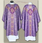 OS-BRO-GT2 PURPLE/GOLD BROCADE SEMI-GOTHIC LOW MASS SET