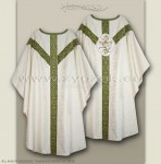 OS-ROZ-GH WHITE/OLIVE LIL SEMI-GOTHIC LOW MASS SET